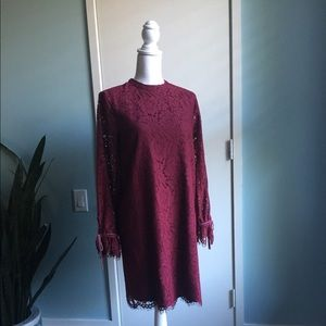 Cocktail dress size 2. Worn once. Rich wine color.